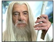 "The Lord of the Rings: The Two Towers movie still: Ian McKellen returns as ""Gandalf the White"" in The Lord of the Rings: The Two Towers"