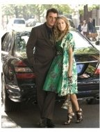 """Chris Noth as """"Mr. Big"""" and Sarah Jessica Parker as """"Carrie Bradshaw"""" in """"Sex and The City: The Movie"""""""