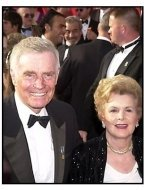 Charlton Heston and wife at the 2001 Academy Awards