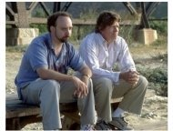 Sideways Movie Still: Paul Giamatti and Thomas Haden Church