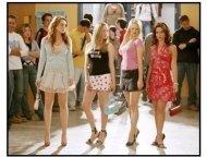 """Mean Girls"" Movie Still: Lindsay Lohan , Amanda Seyfried, Rachel McAdams and Lacey Chabert"