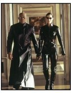 """The Matrix Reloaded""  Movie still: Carrie-Anne Moss and Laurence Fishburne"