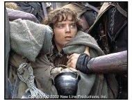The Lord of the Rings: The Two Towers movie still: Elijah Wood as Frodo