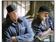 Half Past Dead movie still: Steven Seagal is FBI agent Sascha and Ja Rule is Nick Frazier