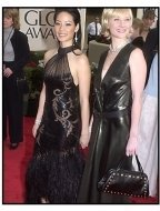 Lucy Liu and Anne Heche at the 2001 Golden Globe Awards