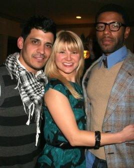 Antonio Rufino with Jenny Guy and Jason Graham