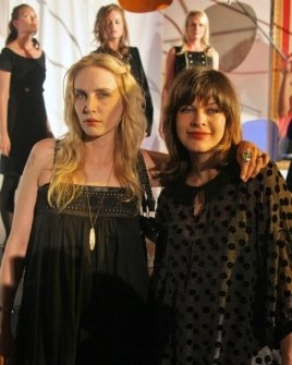 Carmen Hawk and MIlla Jovovich