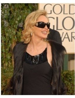 64th Annual Golden Globes Awards Red Carpet: Sharon Stone