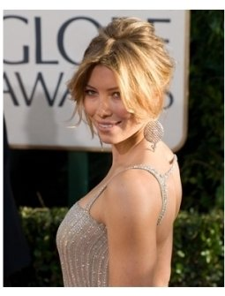 64th Annual Golden Globes Awards Red Carpet: Jessica Biel