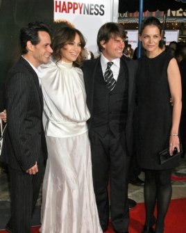 Marc Anthony and Jennifer Lopez with Tom Cruise and Katie Holmes