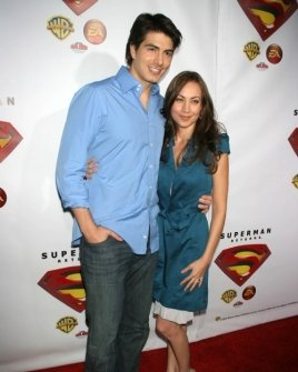 Brandon Routh and friend