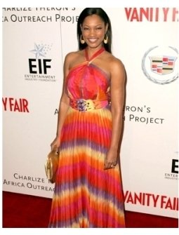 Garcelle Beauvais at the Vanity Fair and EFI Amped For Africa pre-Oscar benefit