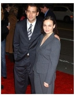 Clive Owen and wife Sarah-Jane Fenton at the Closer premiere