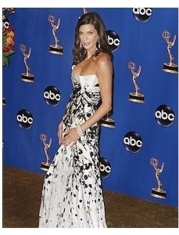 Teri Hatcher backstage at the 2004 Emmy Awards