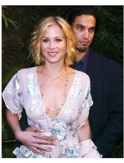 Christina Applegate and Jonathan Schaech at V Life's Emmy Nominee Photo Portfolio Party