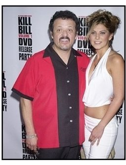 """Paul Rodriguez and Leslie Gomez at the """"Kill Bill Vol. 1"""" DVD Release Party"""