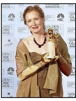 61st Annual Golden Globe Awards--Backstage--Frances Conroy--HFPA--ONE TIME USE ONLY