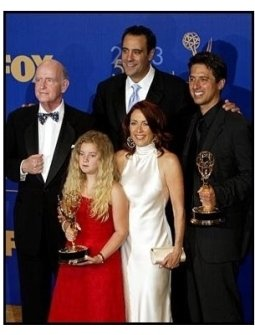 Everybody Loves Raymond cast backstage at the 2003 Emmy Awards