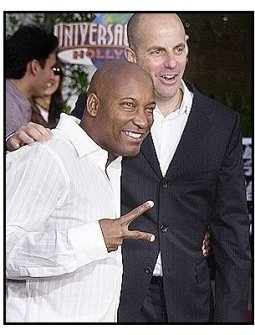 "John Singleton with producer Neal Moritz  at the ""2 Fast 2 Furious"" Premiere"