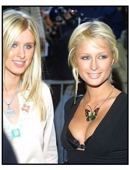 Nicky and Paris Hilton at the Enough premiere