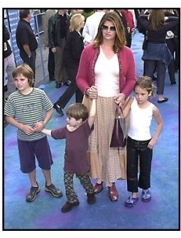 Kirstie Alley and children and friend at the Monsters Inc premiere