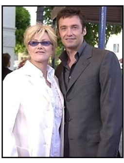 Hugh Jackman and Deborra-Lee Furness at the Swordfish premiere