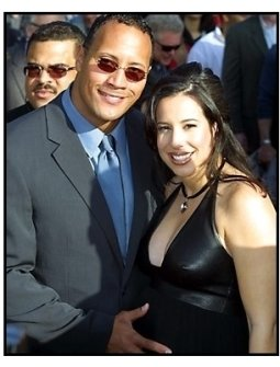 The Rock and wife at The Mummy Returns premiere