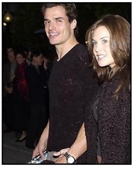 Antonio Sabato Jr and date at the Along Came a Spider premiere