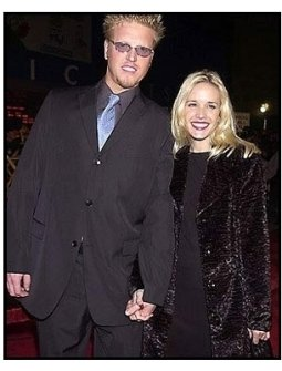 Jake Busey and date at the Tomcats premiere