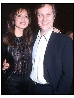 Lasse Hallstrom and Lena Olin at the Chocolat premiere