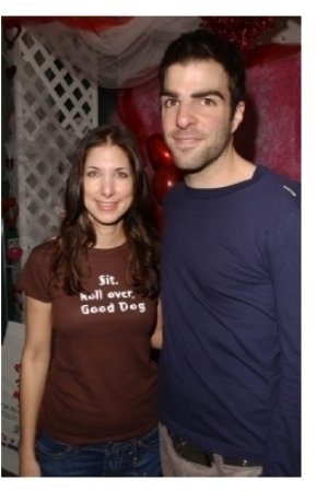 Rachel Weil and Zachary Quinto