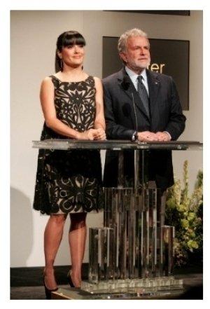 Salma Hayek and Sid Ganis