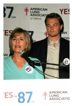 Barbara Boxer and Leonardo Dicaprio