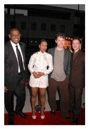 Forest Whitaker and Kerry Washington with kevin Macdonald and James Mcavoy