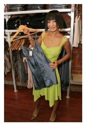 Bai Ling with designs by Gold Hawk