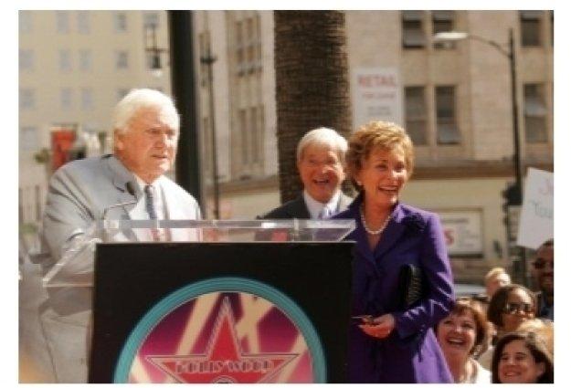 Merv Griffin with Judge Jerry Sheindlin and Judge Judy Sheindlin