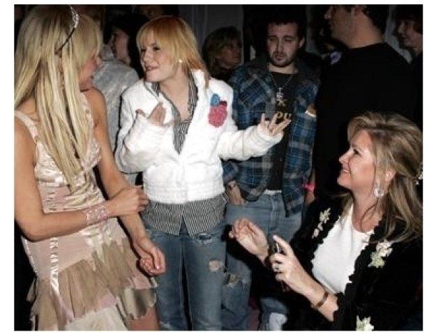 Paris Hilton, Elisha Cuthbert and Kathy Hilton at the Paris Hilton Fragrance Launch Party