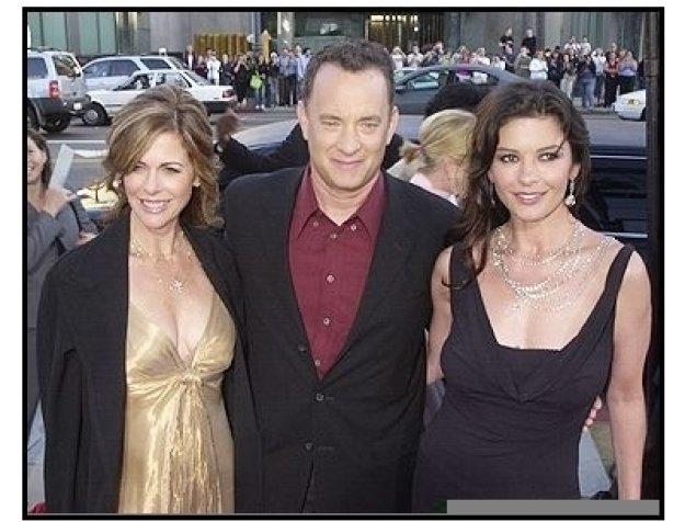 Rita Wilson, Tom Hanks, and Catherine Zeta-Jones at <I>The Terminal</I> premiere