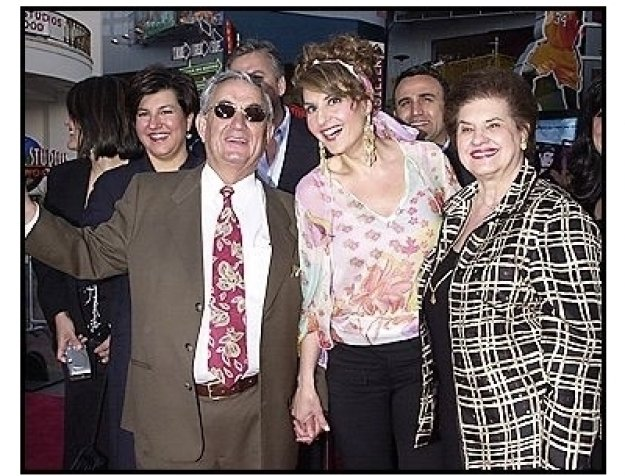 """Nia Vardalos and her parents at the """"Connie and Carla"""" Premiere"""