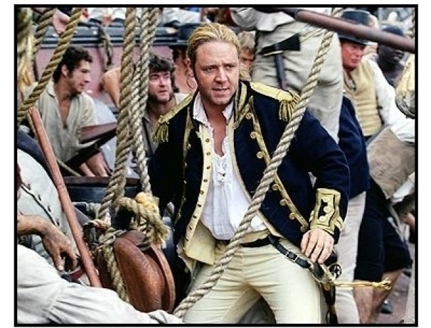 """""""Master and Commander: The Far Side of the World"""" Movie Still: Russell Crowe"""