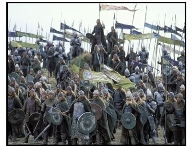 """""""The Lord of the Rings: The Return of the King"""" Movie Still: Gondorian and Rohan soldiers"""