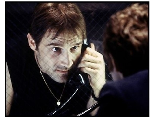 Shot in the Heart movie still: Elias Koteas as Gary Gilmore in jail