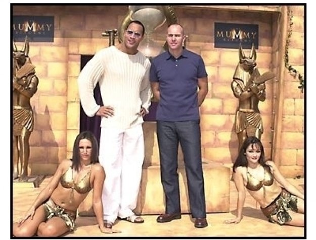 The Mummy Returns DVD release event:The Rock and Arnold Vosloo