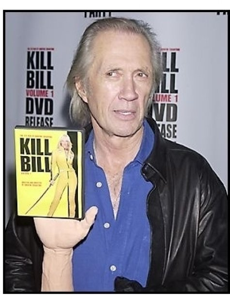 "David Carradine at the ""Kill Bill Vol. 1"" DVD Release Party"