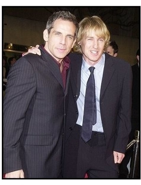 "Ben Stiller and Owen Wilson at the ""Starsky & Hutch"" Premiere"