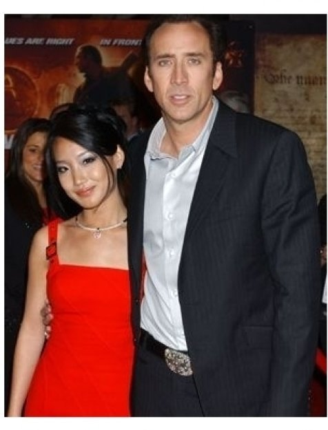 Nicolas Cage and wife Alice at the National Treasure Premiere
