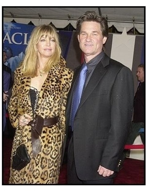 "Kurt Russell and Goldie Hawn at the ""Miracle"" premiere"