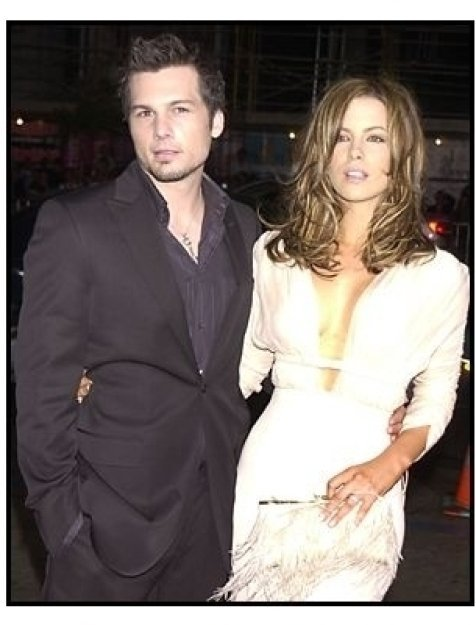 "Kate Beckinsale and director Len Wiseman at the ""Underworld"" premiere"