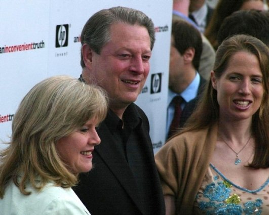 Al Gore and family