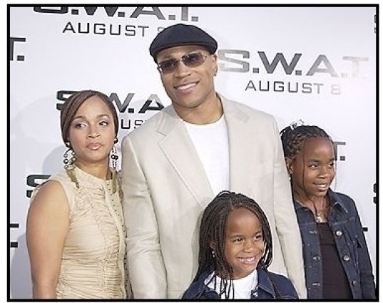 "LL Cool J and family at the ""S.W.A.T."" premiere"